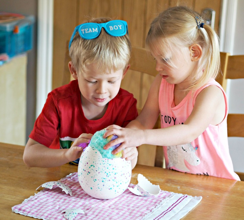 Hatchimals Hatchibabies Review - hatching hatchimal coming out of shell