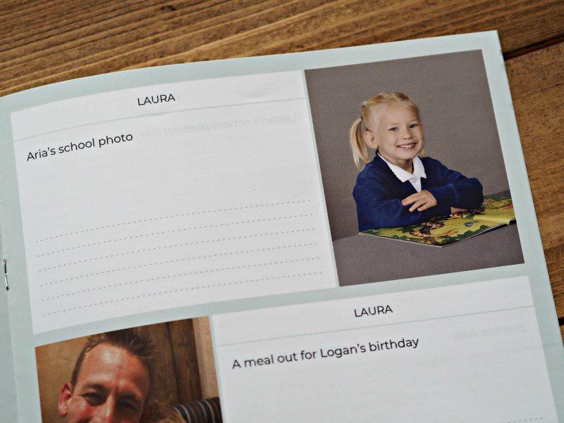 Keep in Touch with Grandparents with a Monthly Neveo Photo Journal - close up 2