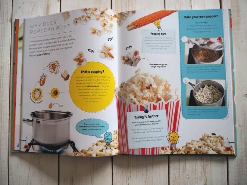 Inside the book how does popcorn pop