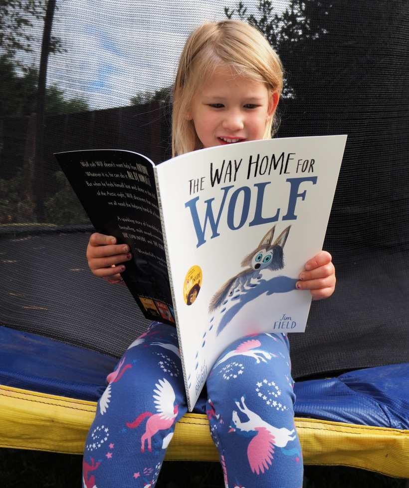 The Way of the Wolf book review - Aria sitting on trampoline