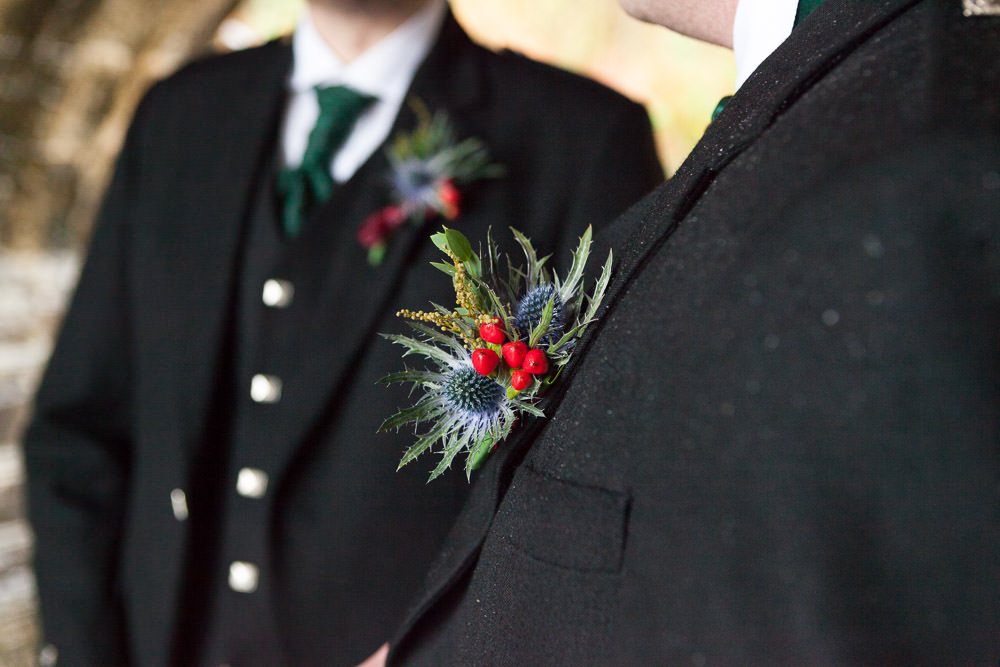 beautiful thistle buttonhole