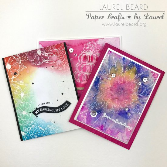 Laurel Beard Colorful Cards The Ton Stamps