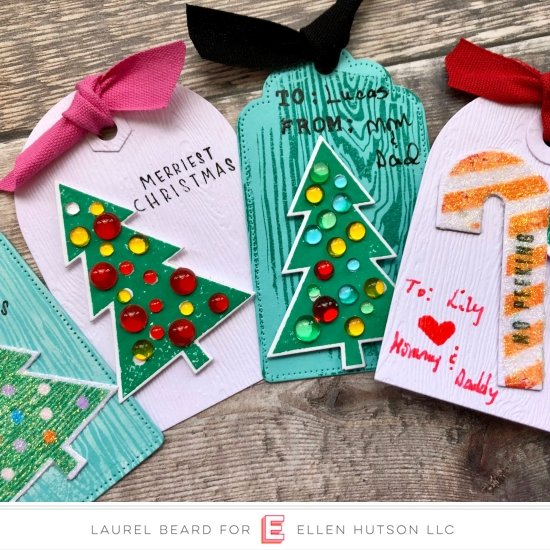 Christmas Tags with Woodgrain Accents: 12 Tags of Christmas