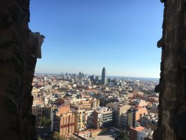 Barcelona from Sagrada Familia basilica