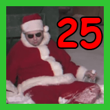 passed out santa and the number 25