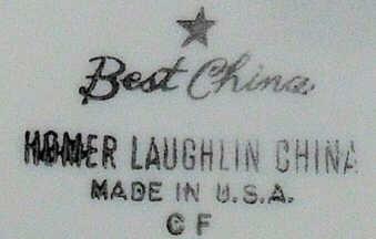 Vintage Homer Laughlin Backstamps