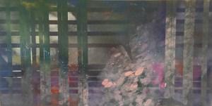 """Painting by Laurel Landers titled """"Lotus Showers"""""""