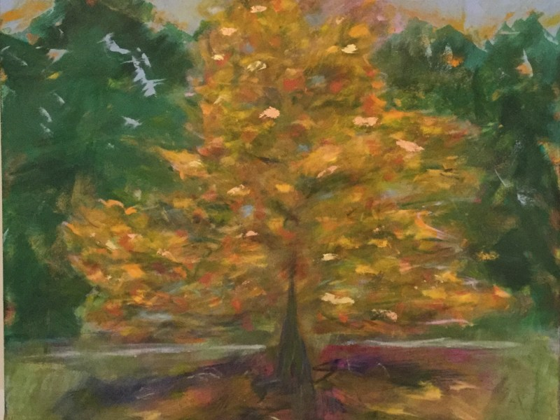 "Painting by Laurel Landers titled ""Autumn Beauty"""