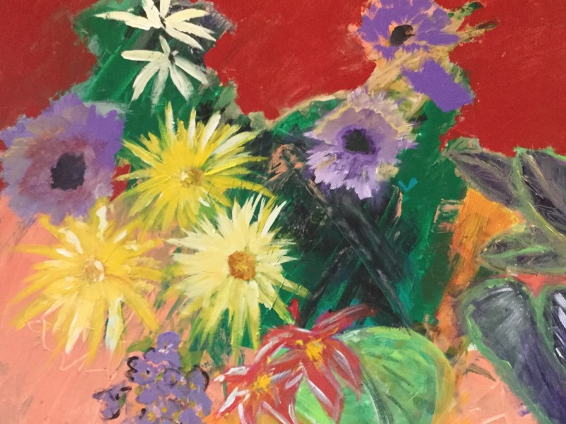 "Painting by Laurel Landers titled ""Summer Bouquet"""