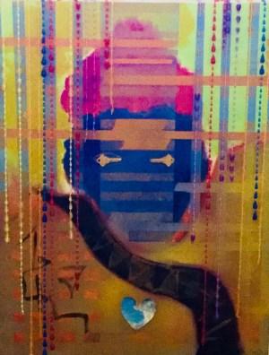 """Painting by Laurel Landers titled """"Mystery Man"""" by Laurel Landers."""