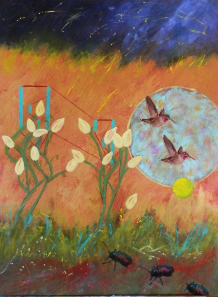 "Painting by Laurel Landers titled ""Nature's Way"""