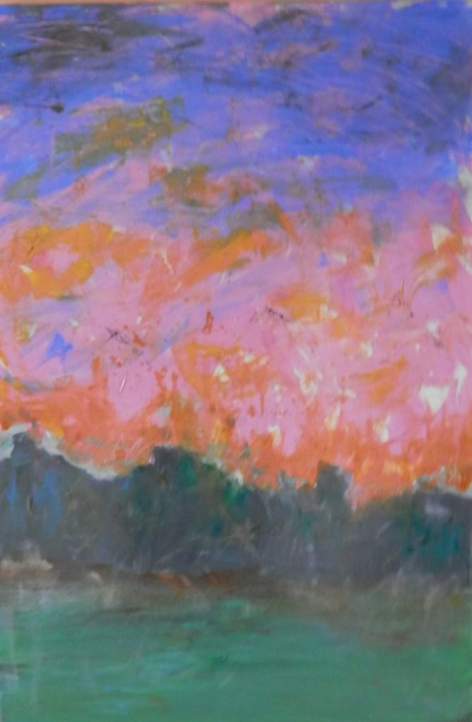 "Painting by Laurel Landers titled ""Twilight"""