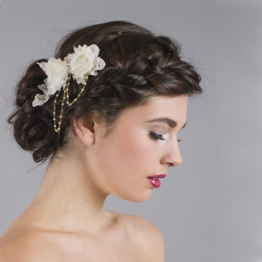 Beatrice Lace Flower Headdress