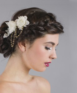 Beatrice Lace Flower Headdress