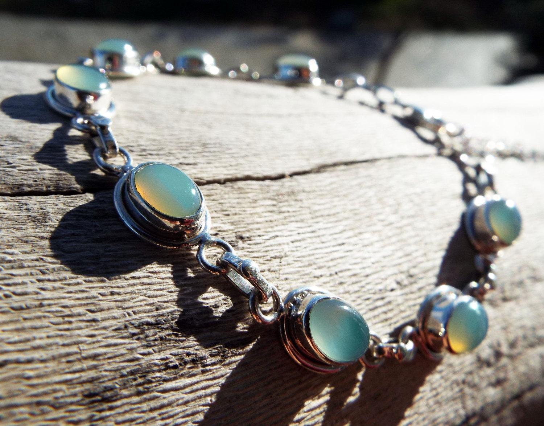 Aquamarine Sterling Silver Bracelet