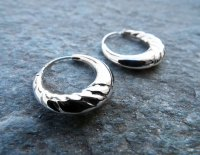 Bali Hoop Earrings Silver Balinese Sterling 925 Tribal ...