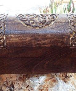 Celtic Box Knot Wooden Mango Tree Jewelry Handmade Flower Symbol Carved Eco Friendly Home Decor Trinket
