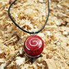 Coral Pendant Gemstone Silver Red Necklace Handmade Sterling 925 Ocean Sea Oval Summer Beach Good Fortune Luck Jewelry