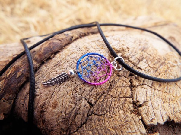 Dreamcatcher Pendant Silver Necklace Handmade Sterling 925