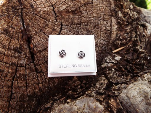 Earrings Celtic Knot Studs Silver Handmade Sterling Gothic Dark 925 Pattern Jewelry