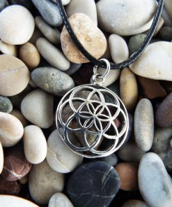 Flower of Life Seed of Life Pendant Silver Handmade Sterling 925 Necklace Protection Ancient Symbol Necklace Jewelry Floral Boho