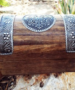 Indian Box Chest Floral Balinese Jewelry Handmade Flower Wood Mango Tree Wooden Trinket Eco Friendly Zen
