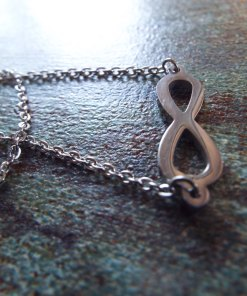Infinity Symbol Pendant Lemniscate Silver Handmade Necklace Gothic Jewelry
