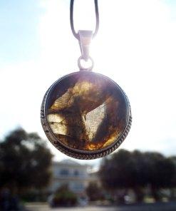Labradorite Pendant Silver Handmade Gemstone Necklace Sterling 925 Stone Gothic Dark Antique Vintage Jewelry