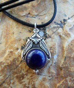 Lapis Lazuli Pendant Silver Handmade Necklace Sterling 925 Gemstone Stone Blue Jewelry Boho Μεταγιον Ασημι Λαπις Λαζουλι