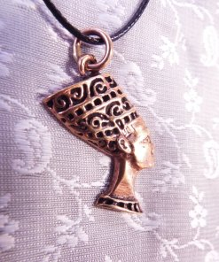 Nefertiti Pendant Ancient Egyptian Goddess Bronze Handmade Pharoah Necklace Jewelry