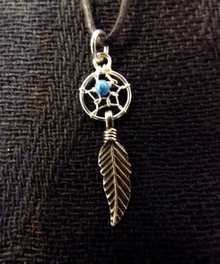 Pendant Dreamcatcher Sterling Silver Handmade Necklace 925 Turquoise Gemstone Indian Native American 1