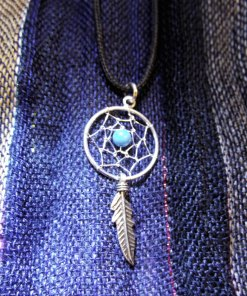 Pendant Dreamcatcher Sterling Silver Handmade Necklace 925 Turquoise Gemstone Indian Native American 2