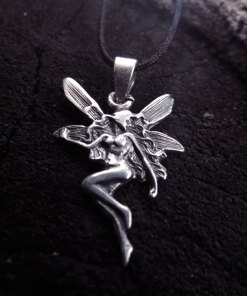 Pendant Fairy Silver Sterling 925 Handmade Necklace Jewelry Magic Mystic Fantasy Faerie Wings