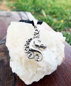 Pendant Silver Unicorn Horse Sterling Handmade 925 Necklace Jewelry Fairytale Magic