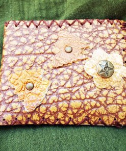 Purse Wallet Pouch Leather Floral Case Flower Butterfly Handmade Pocket 2