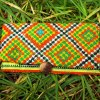 Tobacco Pouch Cotton Handmade Aztec Fabric Case Pocket Hand Stitched Hippie Boho καπνοθήκη