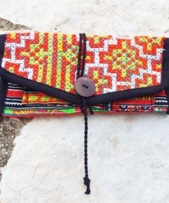 Tobacco Pouch Cotton Handmade Fabric Case Pocket Hand Stitched Hippie Boho