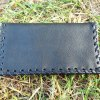 Tobaco Pouch Purse Vegan Leather Handmade Black Pouch Case Cruelty Free
