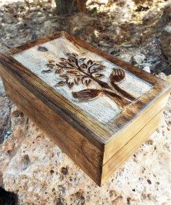 Tree of Life Celtic Box Chest Handmade Trinket Wood Mango Tree Eco Friendly Symbol