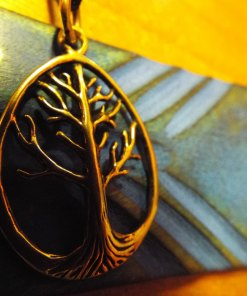 Tree of Life Pendant Bronze Celtic Necklace Handmade Jewelry Symbol