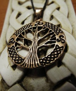 Tree of Life Pendant Bronze Celtic Necklace Handmade Symbol Jewelry