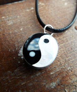 Yin Yang Pendant Silver Handmade Sterling 925 Fildisi Necklace Chinese Asian Symbol Jewelry Good and Evil