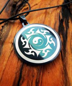 Yin Yang Pendant Handmade Silver Necklace Symbol Chinese Jewelry Stainless Steel Good and Evil Protection