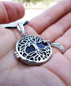 Amethyst Pendant Tree of Life Silver Handmade Necklace Purple Gemstone Jewelry