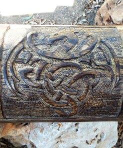 Dragon Celtic Chest Box Handmade Wood Mango Tree Eco Friendly Gothic Symbol Jewelry Treasure