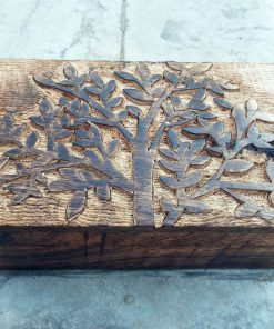 Tree of Life Box Chest Wooden Handmade Trinket Wood Mango Tree Eco Friendly Symbol Jewelry