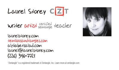 Laurel Storey, CZT business card