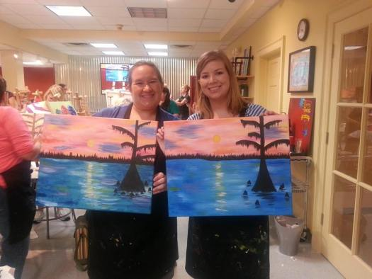 My friend Sara and I went to a painting night for our joint birthdays