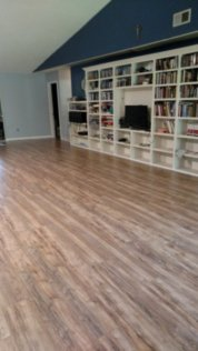 """Pretty new floors in the """"big room"""""""