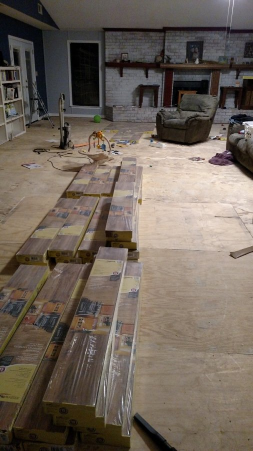 Flooring already to be laid. David again did all the work here and he did an awesome job.